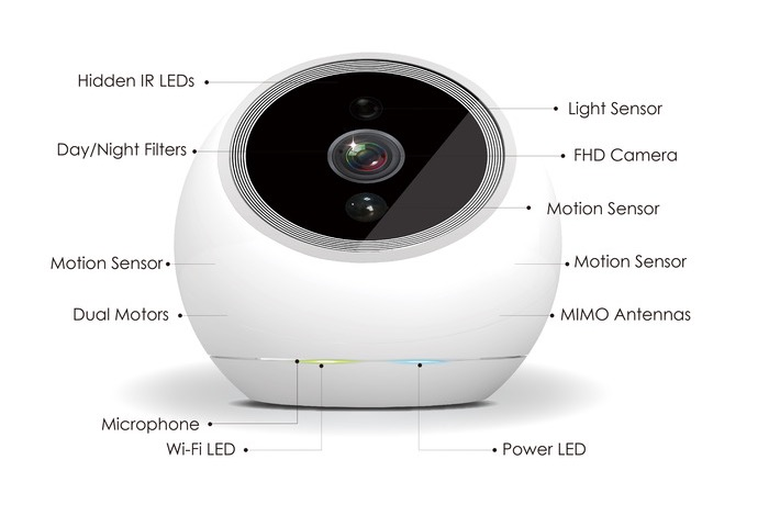 iCamPRO FHD Home Security Robot