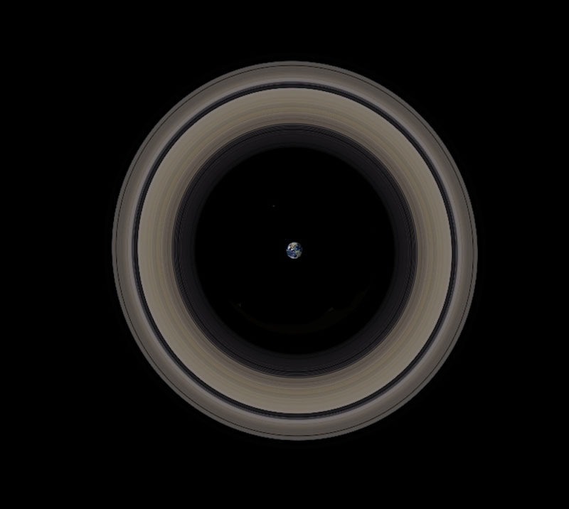 Earth Inside Saturn'sRings