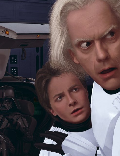back to the future art