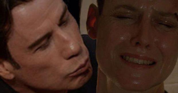 The Internet Had Fun With John Travolta's Creepy Kiss With Scarlett Johansson