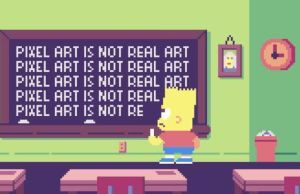 Nostalgic Pixelated The Simpsons Opening Sequence