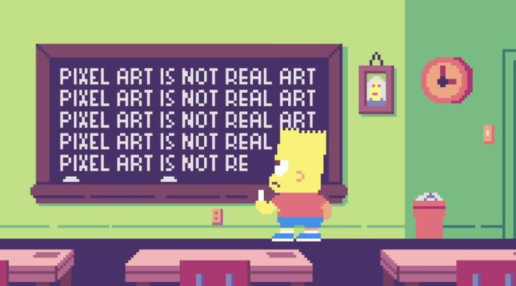 Watch THE SIMPSONS Opening Sequence in Pixel Art — GeekTyrant