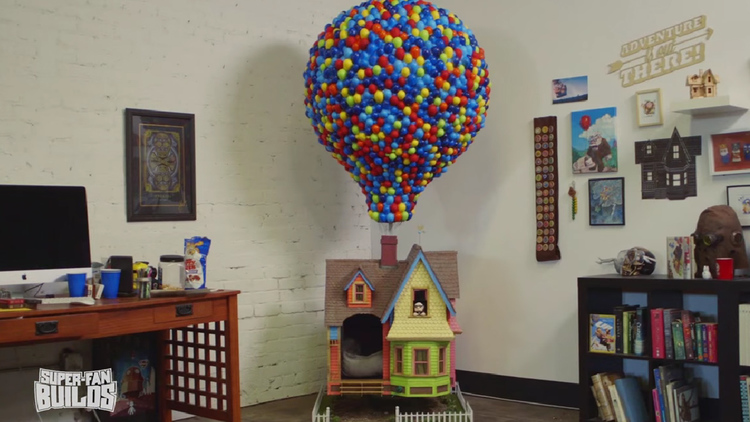 Doghouse Built Like Pixar's UP