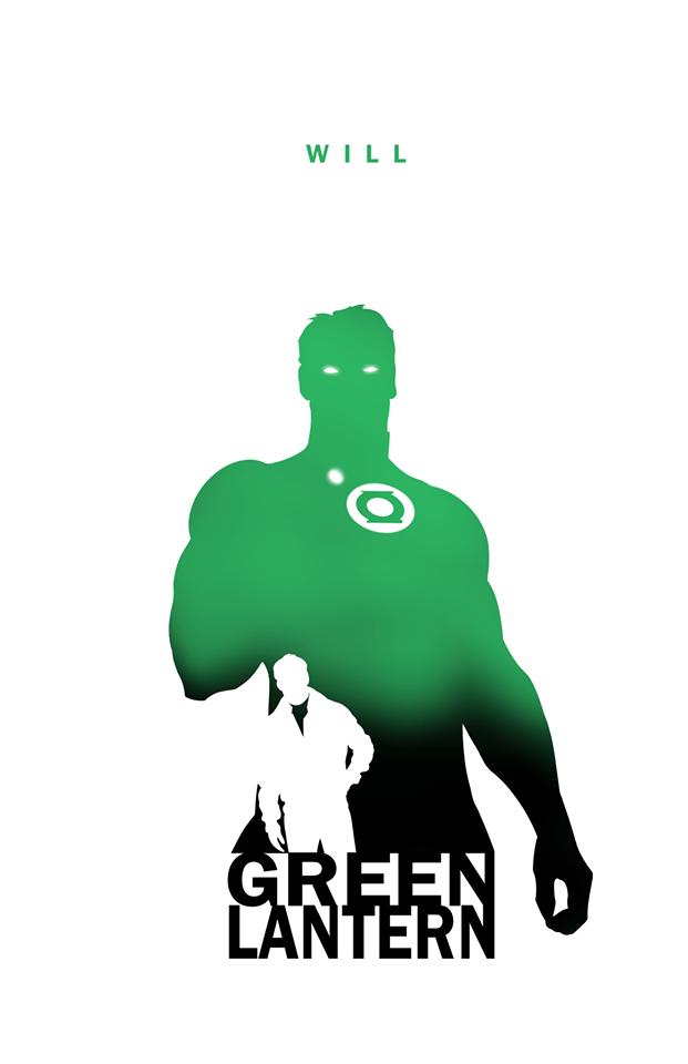 Superheroes Silhouettes Art Series