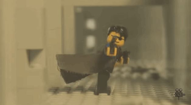 Epic Scene From The Matrix Recreated in LEGO