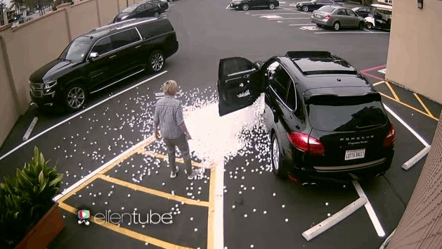 Epic Ping Pong Ball Prank On Ellen DeGeneres