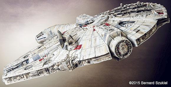 Millennium Falcon paper model