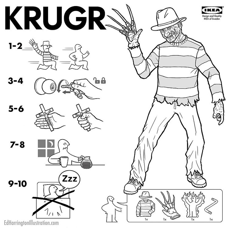 IKEA-Style How-To Movie Monsters by Ed Harrington
