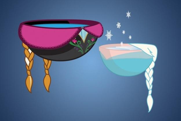 Disney Princesses as Lukewarm Bowls of Water