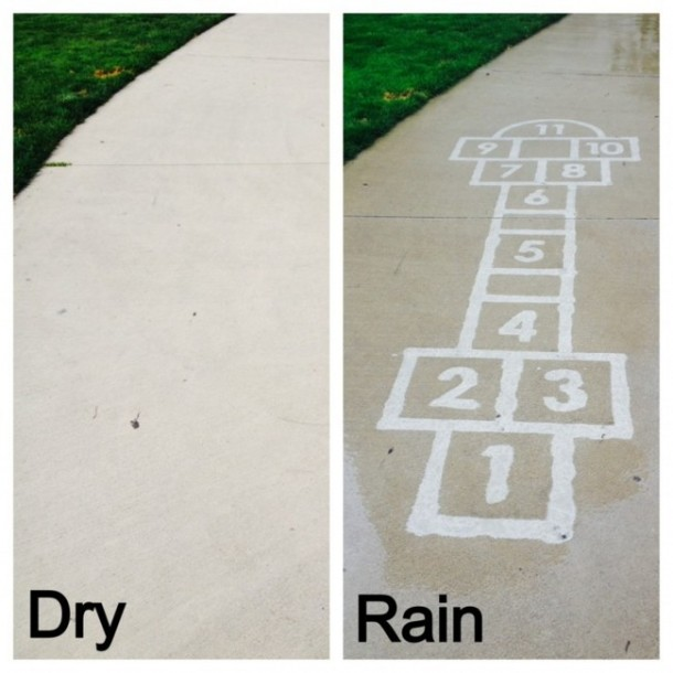 Street Art Which is Only Visible in Rain
