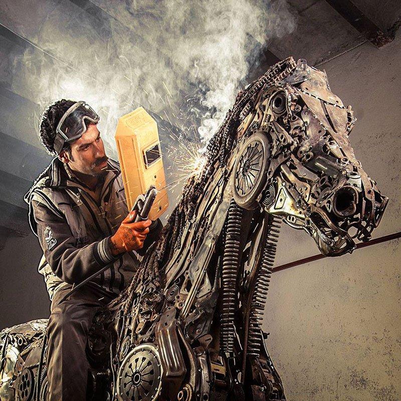 Steampunk Pegasus Made from ScrapMetal