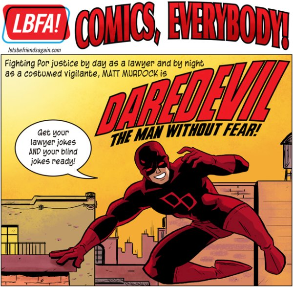 The History of DAREDEVIL Explained in Comic Strip