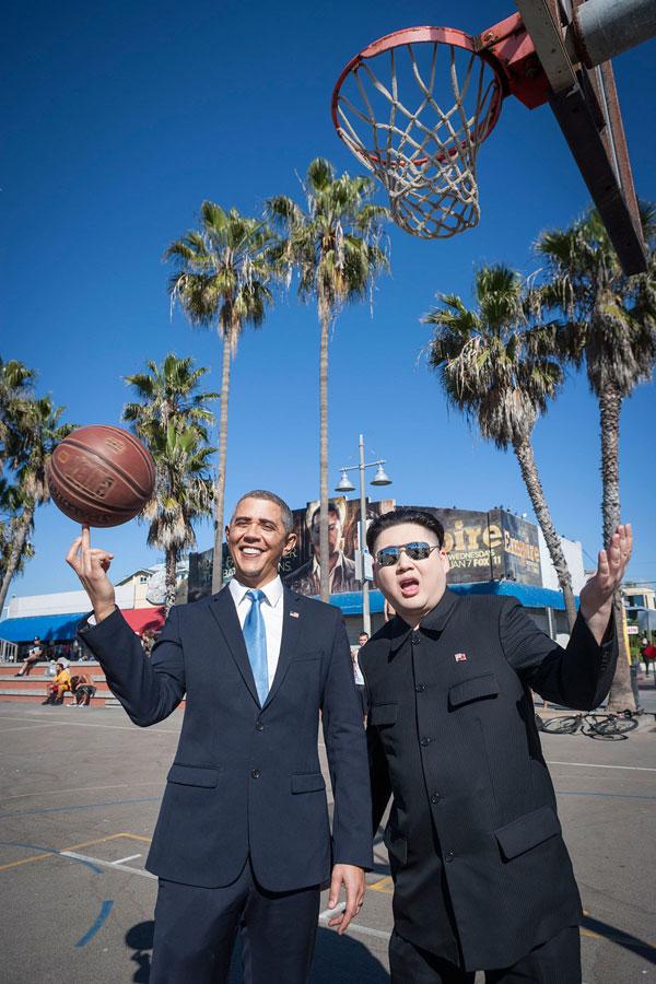 Barack Obama and Kim Jong Un Impersonators Met in LA