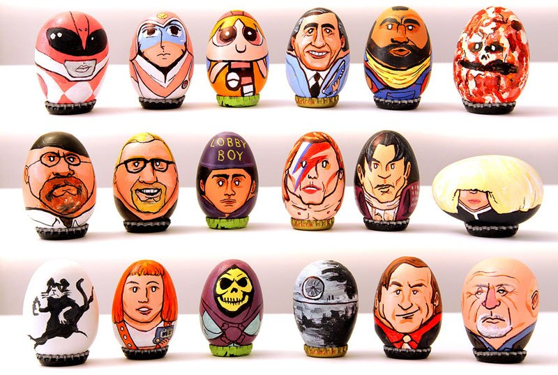 Artist Paints 62 Awesome Egg Characters forEaster
