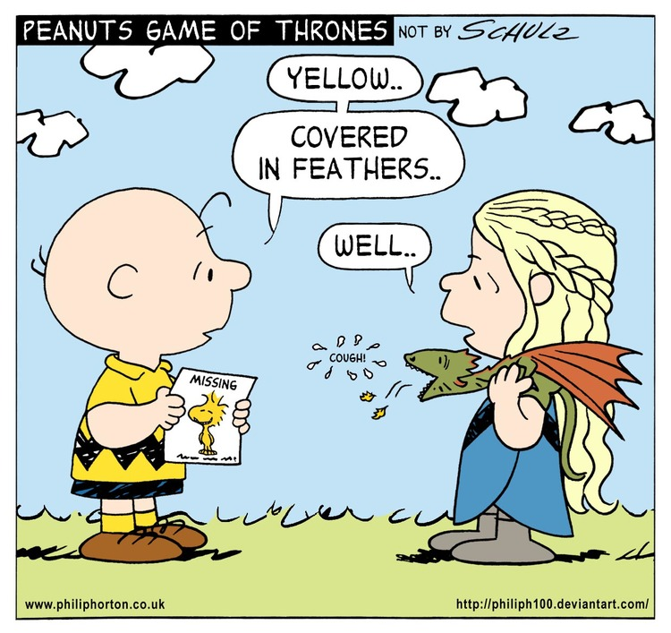 PEANUTS GAME OF THRONES Mashup Comic Art