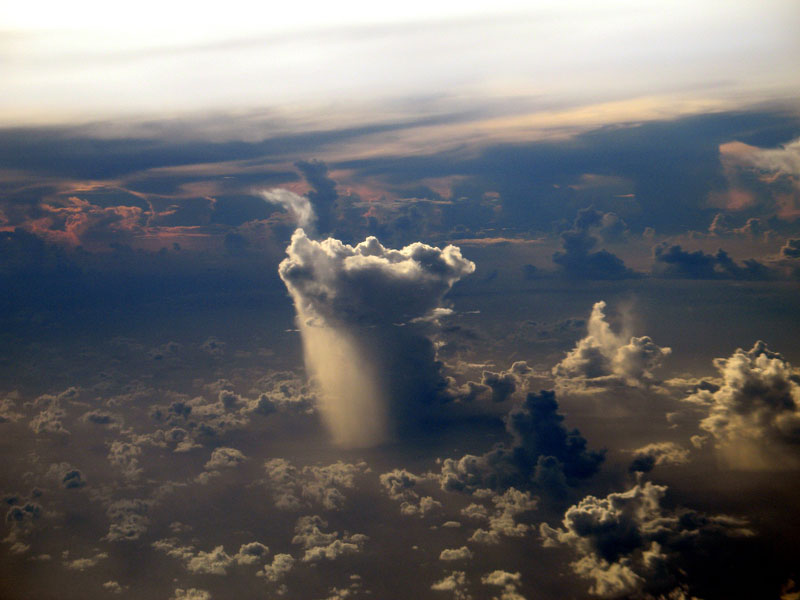 Lonely Rain Cloud Over Pacific