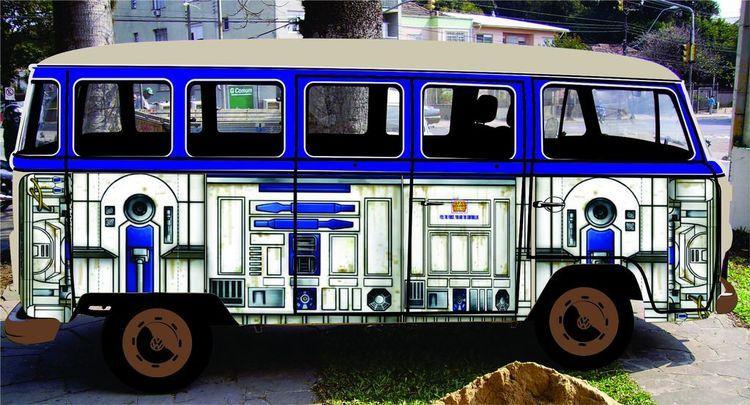 R2-D2 Inspired Volkswagen Bus