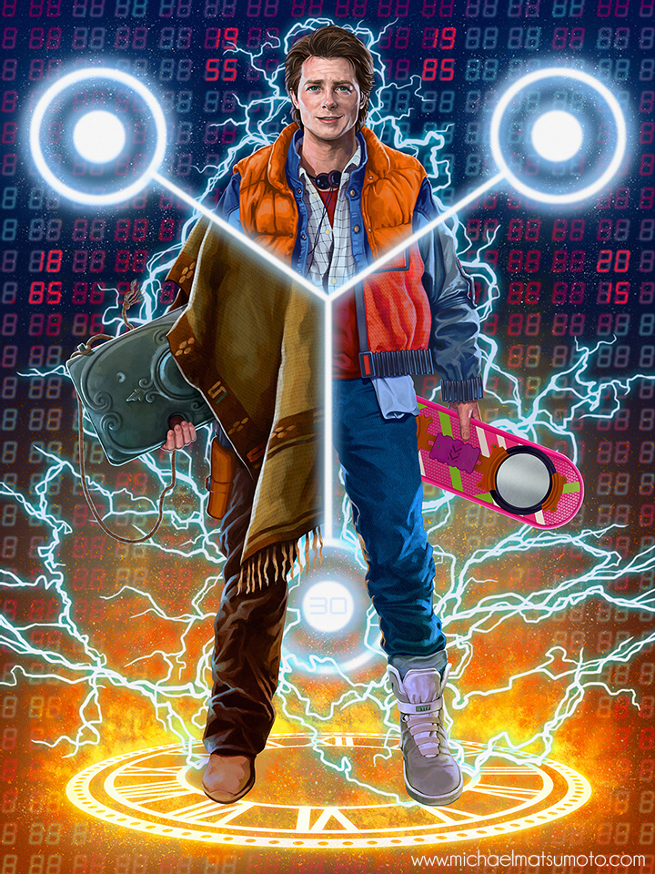 Cool BACK TO THE FUTURE Trilogy Fan Art