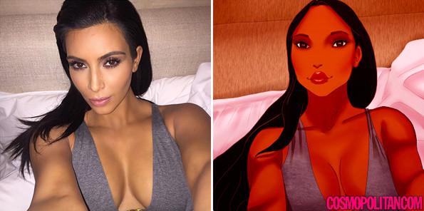 kim-kardashian-disney-princess-selfies-1-595x296