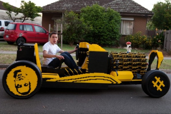 A Car Made Out Of LEGO Bricks Runs On Compressed Air