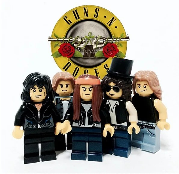 Rock Bands LEGO Minifigs