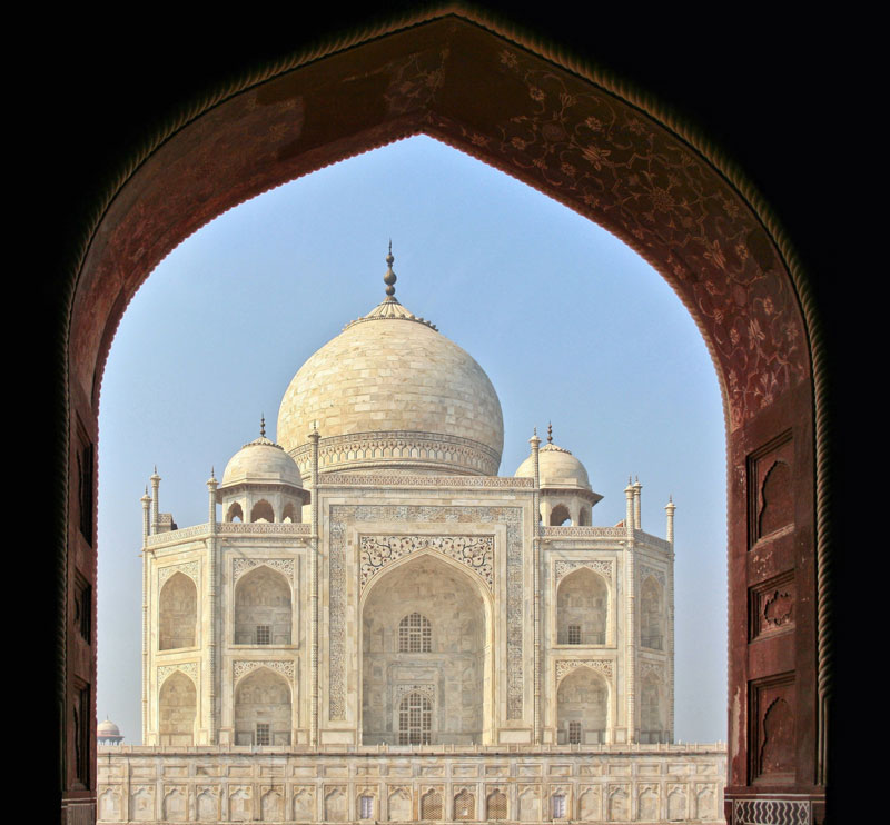 Perfectly Framed Taj Mahal