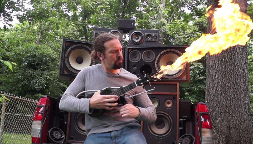 Mad Max Doof Warrior Inspired Flamethrower Ukulele