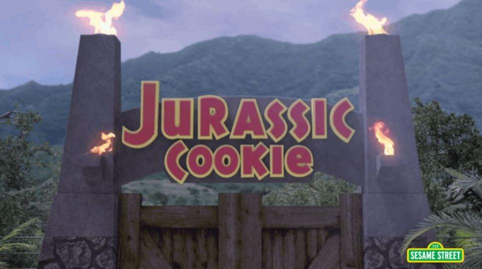 Sesame Street Does A Jurassic Park Parody