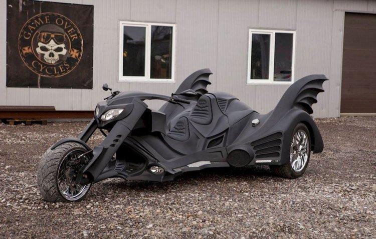 Tim Burton's Batmobile Inspired Custom-Made Trike
