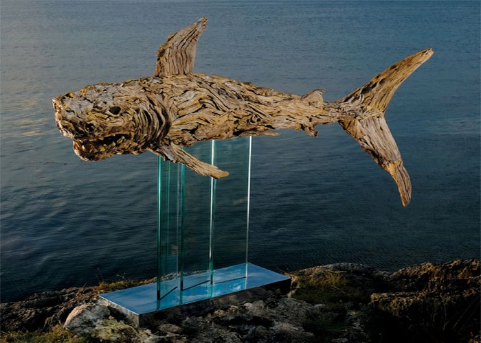 Artists Make Incredible Creatures Out of Driftwood