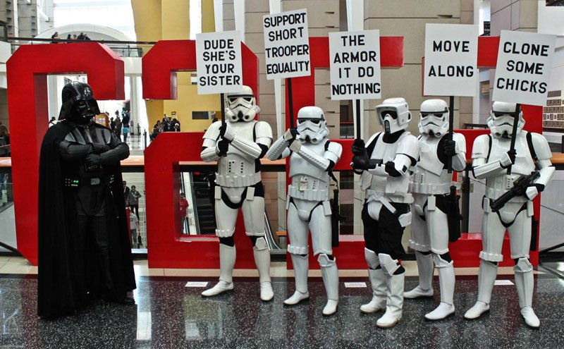 Meanwhile at the Stormtrooper Protest
