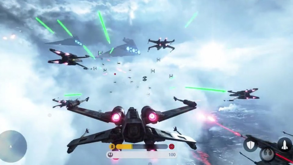First Look at STAR WARS BATTLEFRONT Fighter Squadron Mod