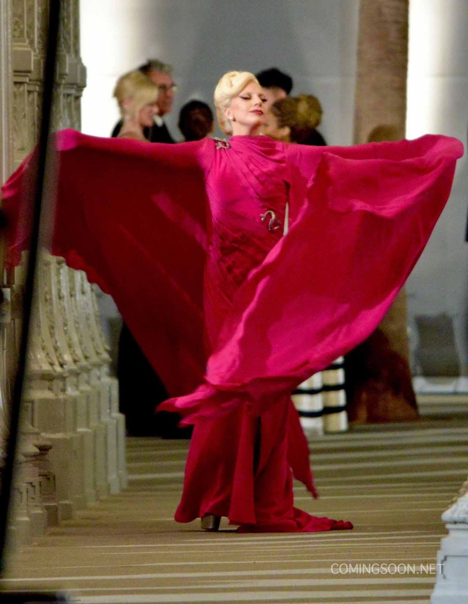 First Look At Lady Gaga On The American Horror Story: Hotel Set