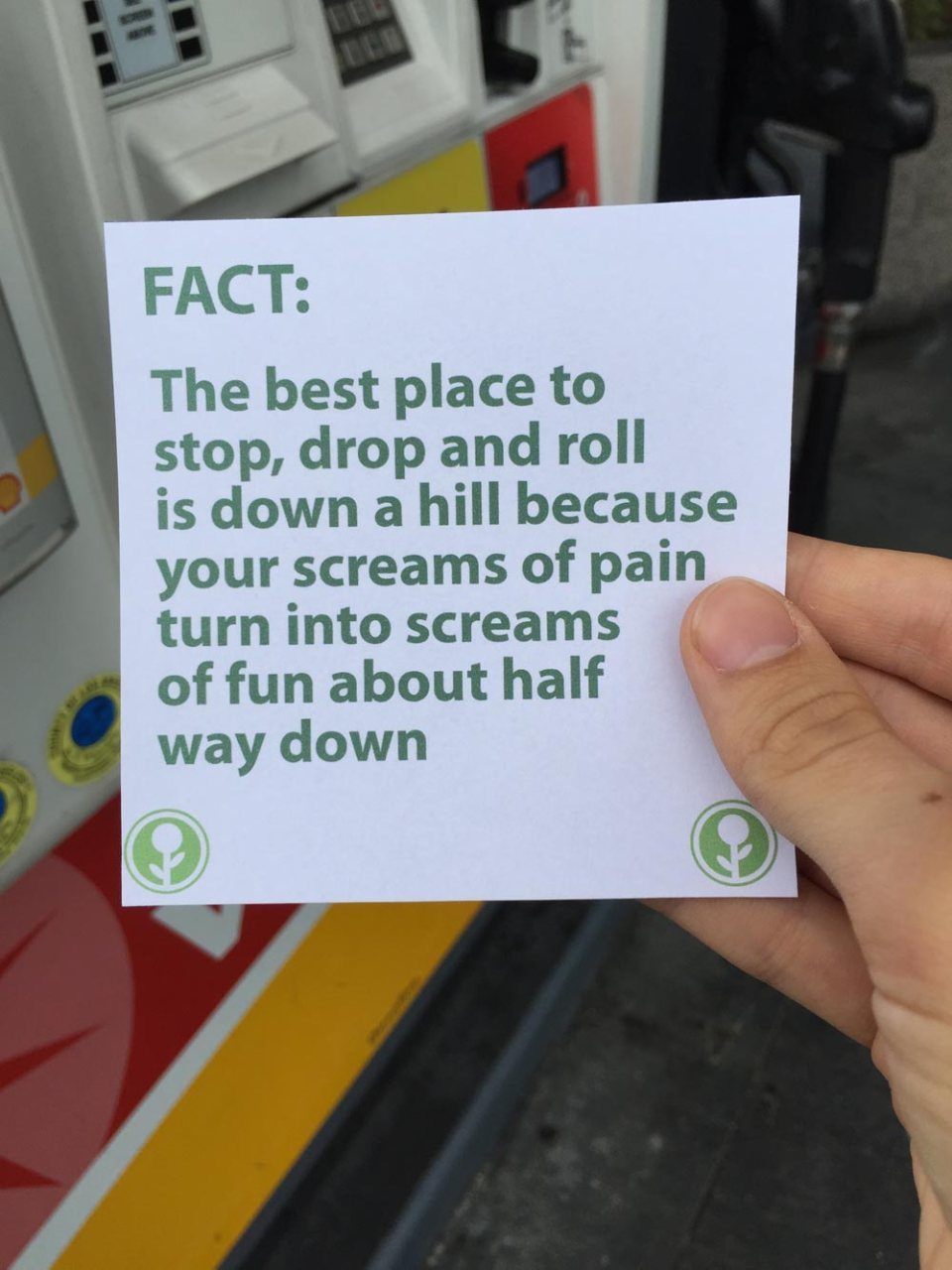 Guy Left These Fun Facts for People to Read at a Gas Station