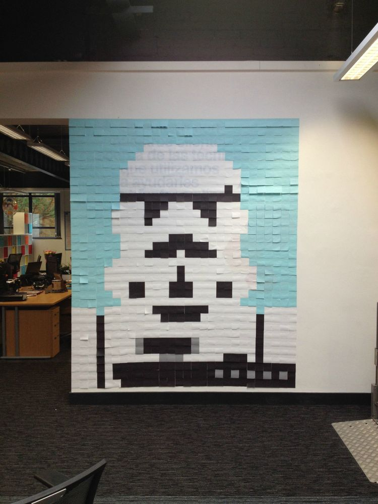 STAR WARS-Inspired Post-It MuralsIn Office