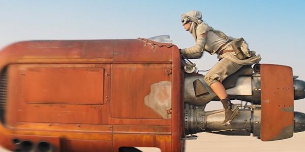 Rey's speeder bike