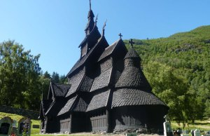 Triple Nave Stave Church in Borgund, Norway