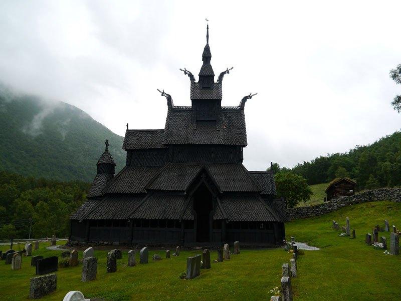 Triple Nave Stave Church in Borgund, Norway