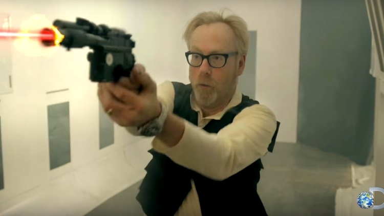 Adam Savage Talks STAR WARS Laser Blasters In MYTHBUSTERS Video