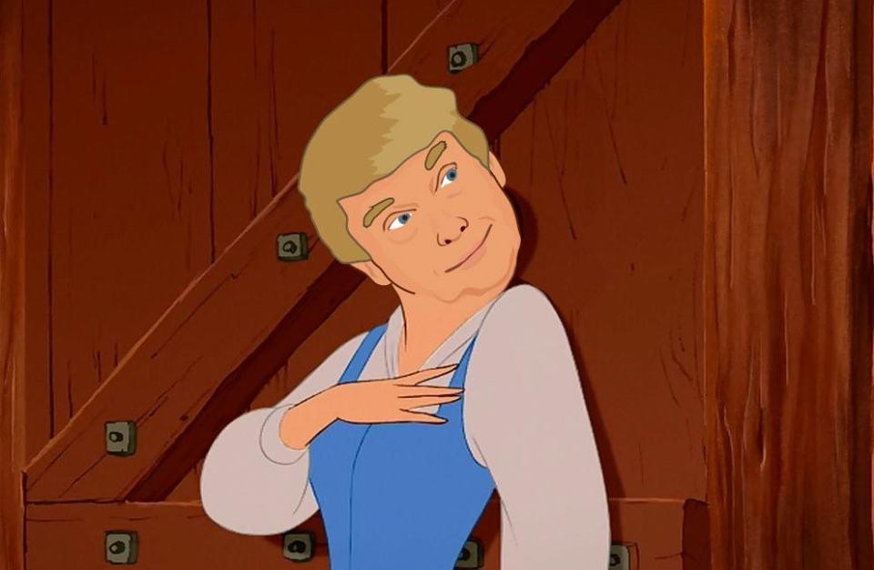 Donald Trump as Disney Princesses