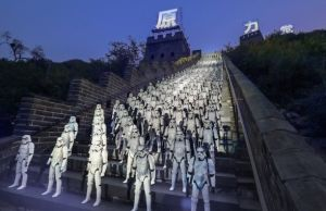 Stormtrooper Figures on the Great Wall