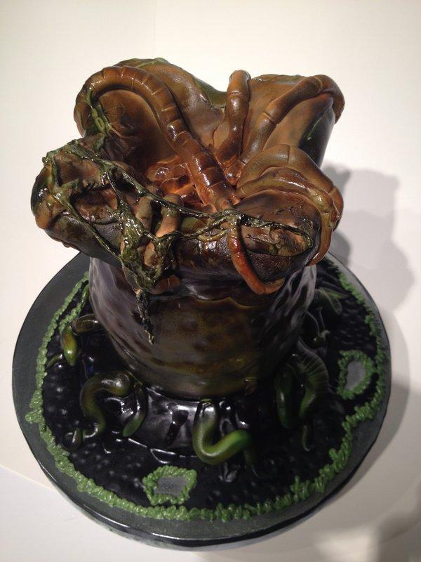 Alien Xenomorph Egg Cake