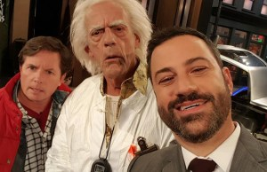 Meet Marty McFly & Doc Brown at Jimmy Kimmel