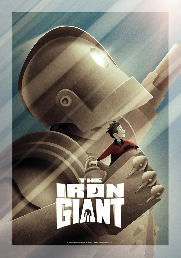 THE IRON GIANT Poster Art Created by Brad Bird and Jeff Granito  (1)