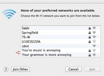 Hilarious Wi-Fi Network Name Suggestions