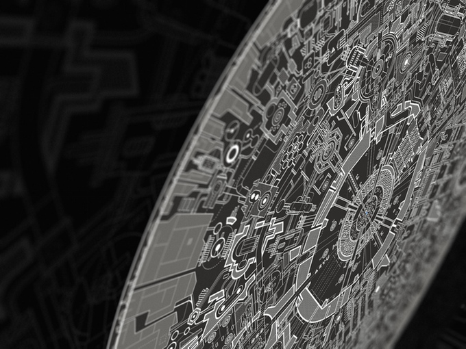 Blueprint Poster For Death Star II: The Lost