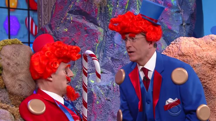 Liam Neeson and Stephen Colbert Did CANDY CRUSH Movie Parody