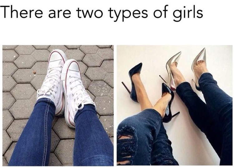 Two Different Types Of Girls In The World