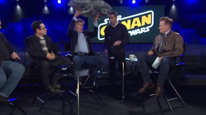 Harrison Ford Completely Destroy A Fan's Lego Millennium Falcon
