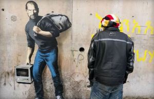Banksy Imagines Steve Jobs in a Syrian Refugee Camp